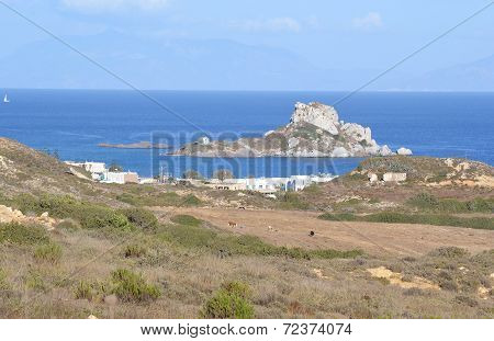 Bay Of Kefalos And Island Kastri