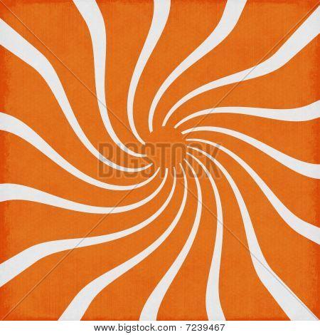 Orange Sunshine Swirl Retro Funky Background