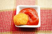 A Chicken or Fish Baked Nugget in Catsup poster