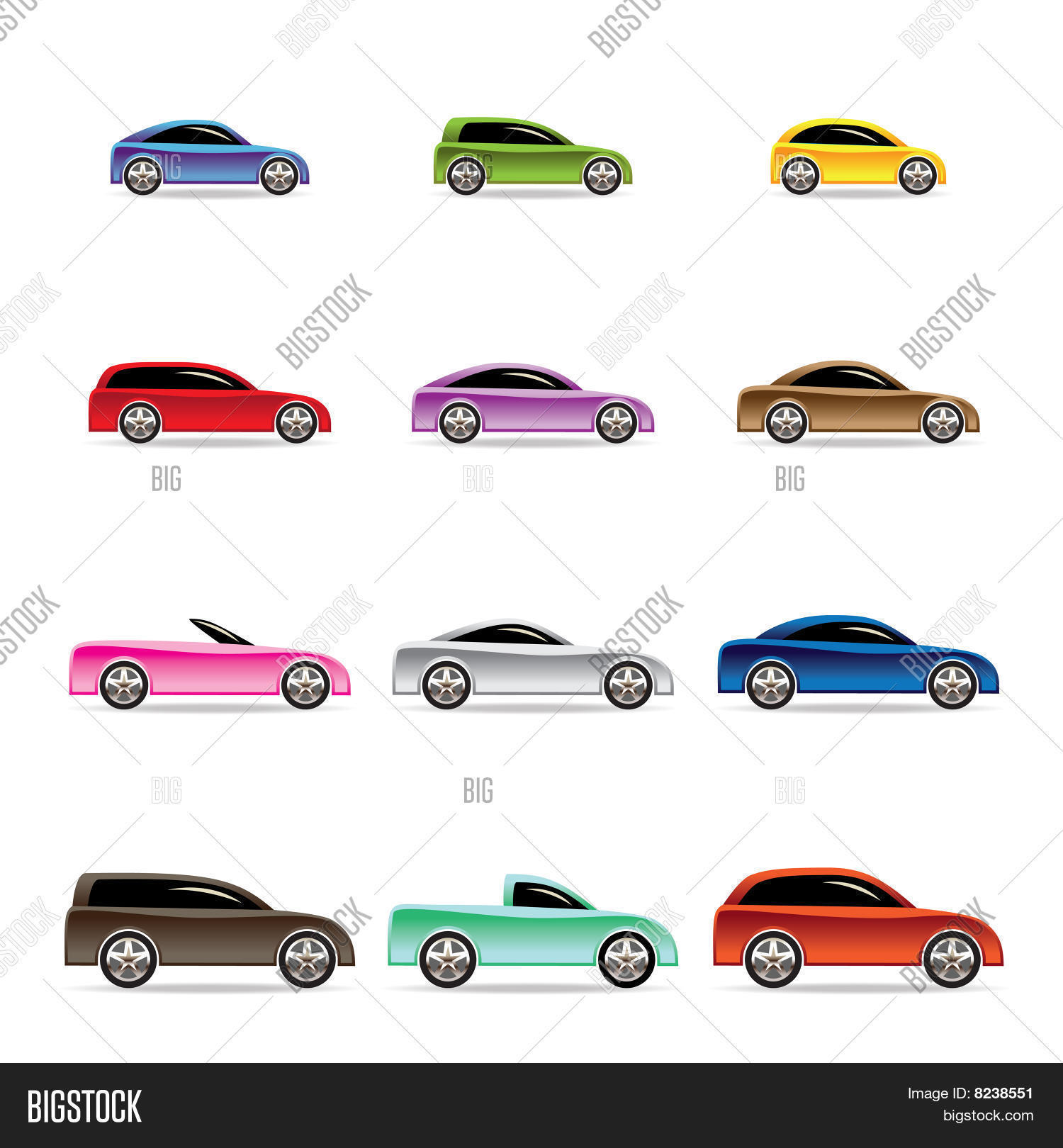 Different Types Cars Vector & Free Trial