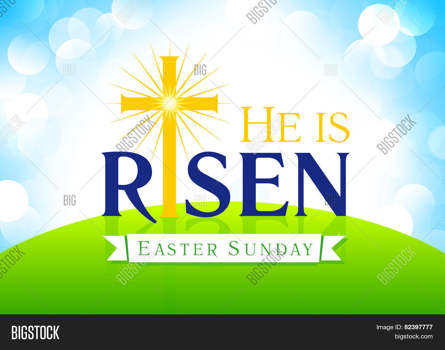 He Risen Easter Vector Photo Free Trial Bigstock