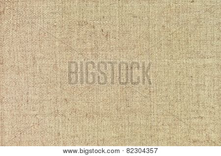 Natural textured horizontal grunge burlap sackcloth hessian sack texture, grungy vintage country sacking canvas, large detailed bright beige pattern macro background closeup poster