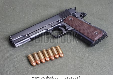 backgrbackground with colt government m1911ound with colt government m1911 poster