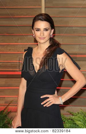 WEST HOLLYWOOD - MAR 2:: Penelope Cruz at the 2014 Vanity Fair Oscar Party on March 2, 2014 in West Hollywood, California