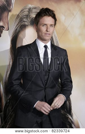 LOS ANGELES - FEB 2: Eddie Redmayne at the 'Jupiter Ascending' Los Angeles Premiere at TCL Chinese Theater on February 2, 2015 in Hollywood, Los Angeles, California