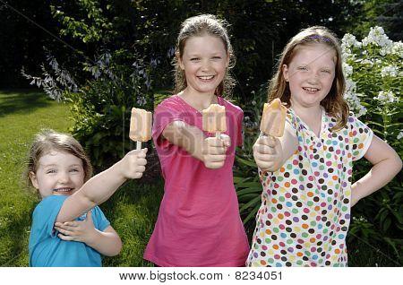 Girls Eat Popsicle