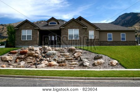 House with Waterfall