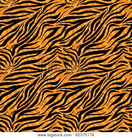Fashion tiger seamless pattern. Animal background.