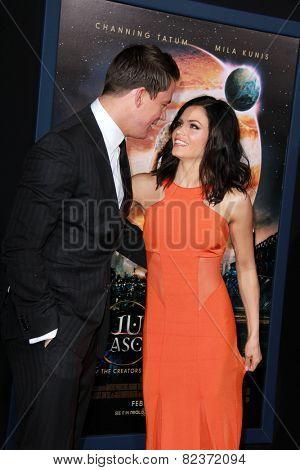 LOS ANGELES - FEB 2:  Channing Tatum, Jenna Dewan-Tatum at the