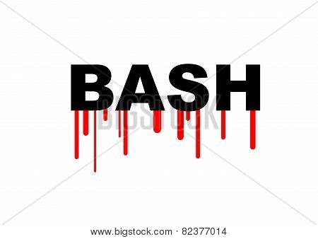 Red bleeding Bash Bourne-again shell security hacking problem poster