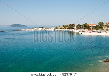 Small Coastal Town Of Greek