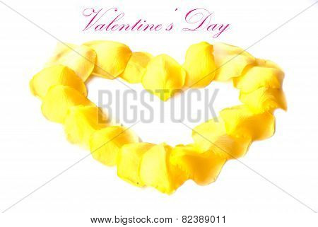 Flowers For Valentine's Day ( On White Background).
