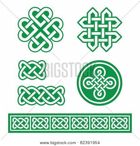 Celtic Irish patterns and braids - St Patrick's Day