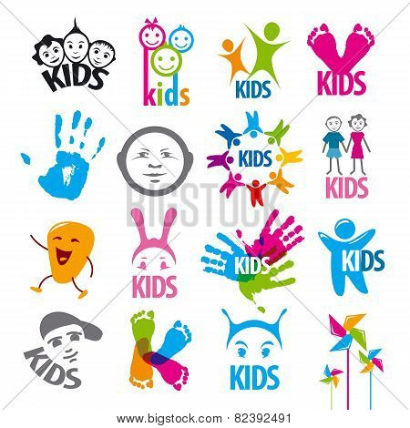 Big Set Of Vector Icons Children