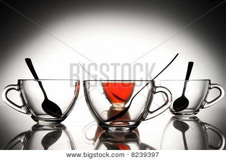 4 Tea Cups