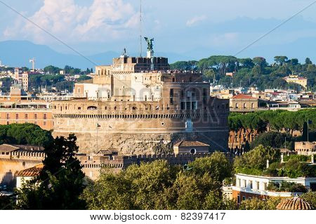 View On Castel Sant'angelo, Rome