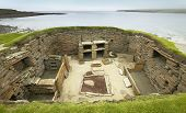 Scottish prehistoric site in Orkney. Skara Brae. Scotland. UK poster