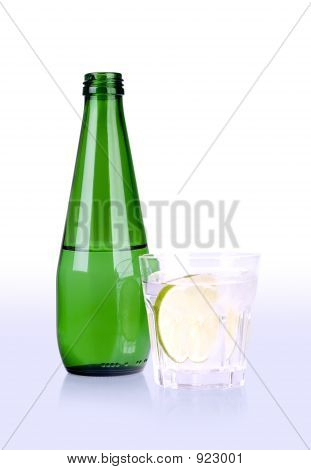 Glass Of And Bottle With Path