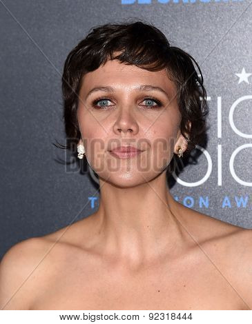 LOS ANGELES - MAY 31:  Maggie Gyllenhaal arrives to the Critic's Choice Television Awards 2015  on May 31, 2015 in Hollywood, CA