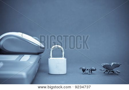 Conceptual Image Of Computer Protection