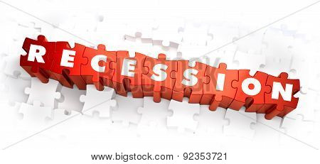 Recession - White Word on Red Puzzles.
