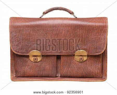 Briefcase On A White Background