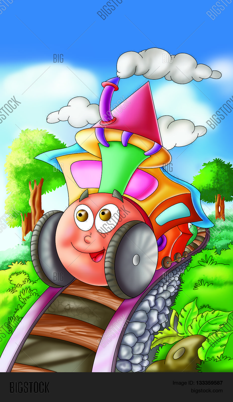 engine rhyme kids give image photo free trial bigstock