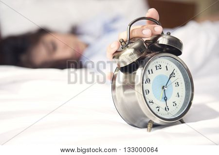 Wake Up, It's Time To Start Preparing For A New Day. Soft Focus At Clock