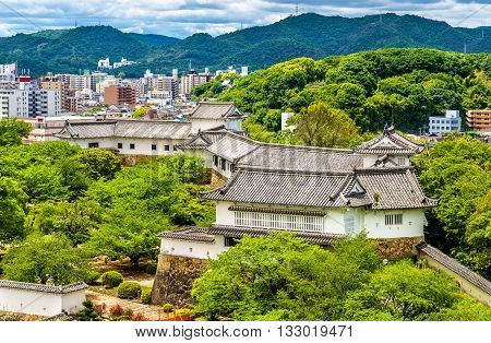Grounds of Himeji Castle in the Kansai region of Japan