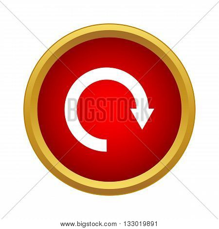 Refresh icon in simple style isolated on white background