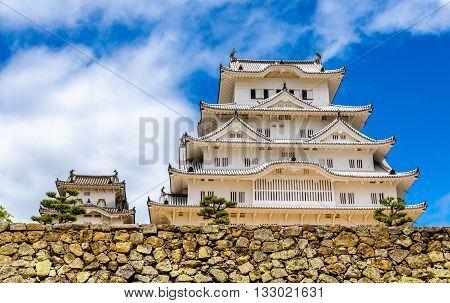 Himeji Castle in the Kansai region of Japan