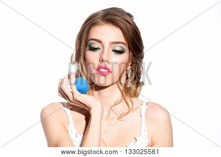 Woman With Makeup Sponge