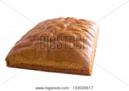 Ma Lai Gou-Traditional malaysia steamed cake isolated on white background.