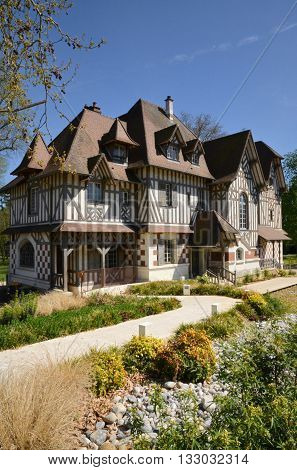 Vernouillet France - april 14 2015 : the Buissons manor in spring