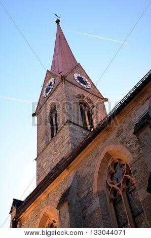 Small catholic church in Bad Gastein, Austria