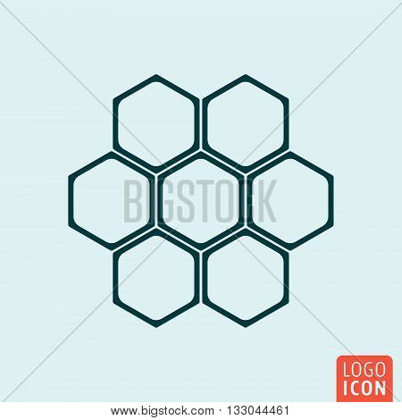 Honeycomb icon. Honeycomb structure symbol. Vector illustration