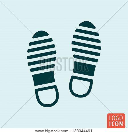Shoes icon. Imprint soles shoes symbol. Vector illustration