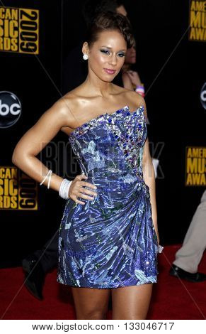 Alicia Keys at the 2009 American Music Awards held at the Nokia Theater in Los Angeles, USA on November 22, 2009.