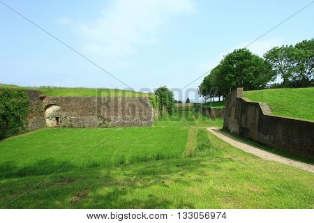 THE RAMPARTS OF MONTREUIL ON SEA, PAS DE CALAIS, THE NORTH OF FRANCE