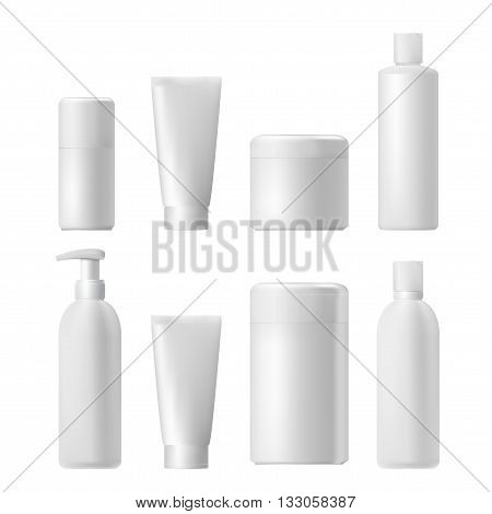 Cosmetic isolated product. 3d cosmetic bottle. Plastic cosmetic bottle. Cosmetic series. Cosmetic beauty product. Shampoo bottle template. Cosmetic branding product. Plastic tube. Lotion tube. Mockup. Realistic