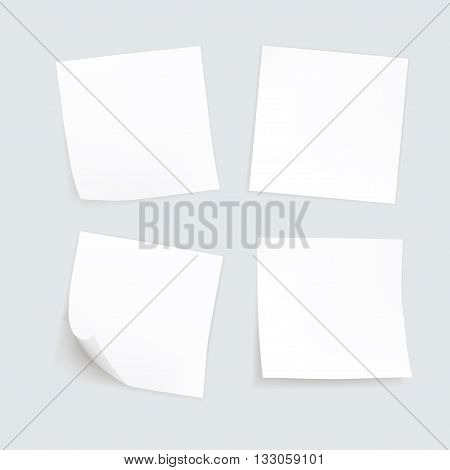 Vector Set of Paper Sticker Sticky Note Post Memo Label Isolated eps10 vector
