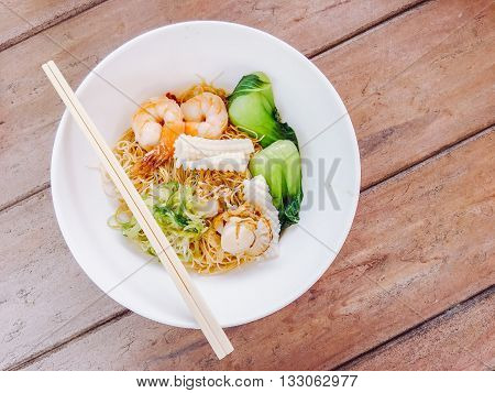 Fried Noodles Hong Kong