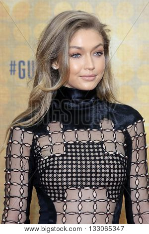 LOS ANGELES - JUN 4:  Gigi Hadid at the 10th Annual Guys Choice Awards at the Sony Pictures Studios on June 4, 2016 in Culver City, CA