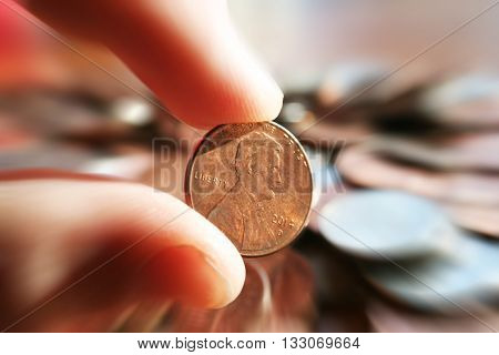 Penny Close up Stock Photo High Quality