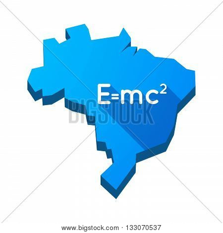 Illustration Of An Isolated Brazil Map With The Theory Of Relativity Formula