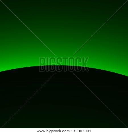 Green Alien Sunrise