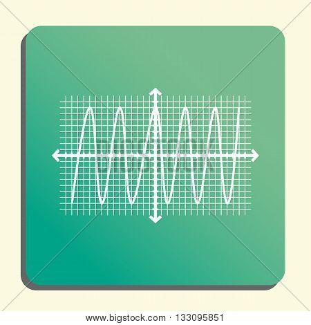 Cosine Icon In Vector Format. Premium Quality Cosine Symbol. Web Graphic Cosine Sign On Green Light