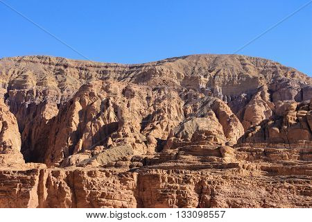 White canyon around Dahab Sinai Egypt, desert