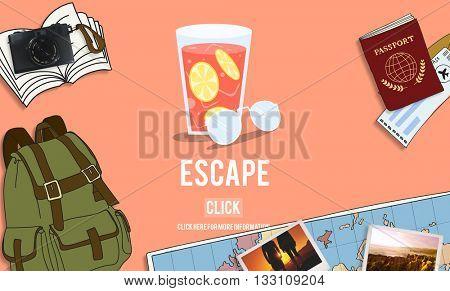 Escape Freedom Exit Crisis Concept poster