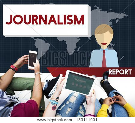 Journalism News Interview Article Content Concept poster